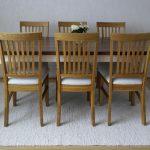 ruokapöytä-puinen-maalaisromanttinen-sorvatut-jalat-valkoinen
